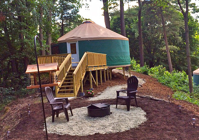 Come See Our New Yurts at Circle M!
